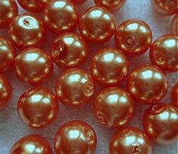 Korálky - GLANCE plast 12mm-1ks (oranžová) - 3241549