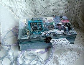 Krabičky - biely kabriolet... - 3243990