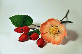 Drobnosti - Šípová ruža z marcipánu - 3246870