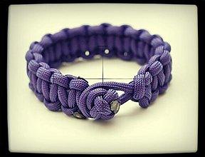 Náramky - Paracord Survival Bracelet   diamantový uzol - 3247826