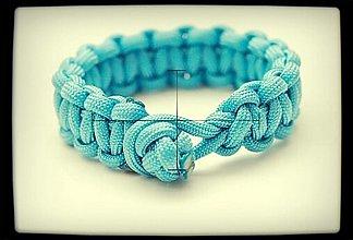Náramky - Paracord Survival Bracelet   diamantový uzol - 3247839