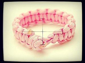 Náramky - Paracord Survival Bracelet   diamantový uzol - 3247863