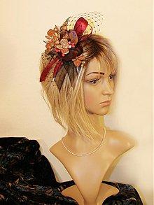 Ozdoby do vlasov - fascinátor v Bordó. - 3249025