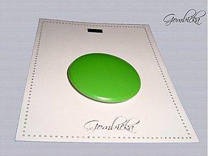 Drobnosti - .gombičisko v jasne zelenej 38 mm - 3249037