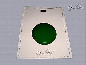 Drobnosti - .gombičisko v borovicovo zelenej 38 mm - 3249064