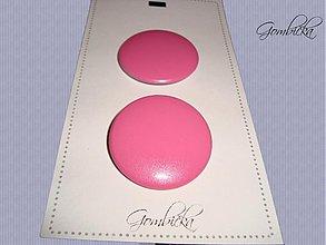 Drobnosti - .ružové gombičiská 38 mm - 3249093