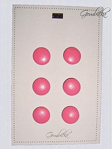 Materiál ručne robený - .ružové gombíčky 23 mm - 3249553