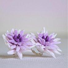 Náušnice - Chryzantémy na ouška - něžné - 3249649