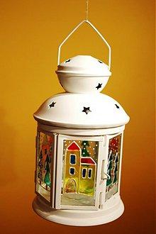 Svietidlá a sviečky - Vianočný/zimný lampášik- deň - 3250799