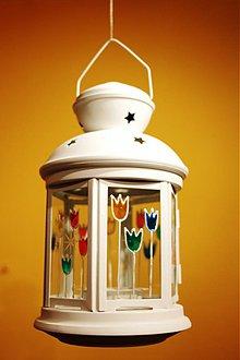 Svietidlá a sviečky - Veselý tulipánový lampášik - 3250842