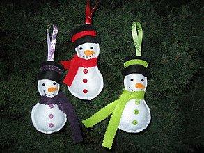Dekorácie - Filcový snehuliačik - 3254343