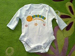Detské oblečenie - Húseničkové body - 3257002