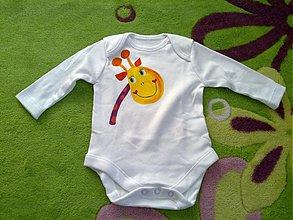 Detské oblečenie - Žirafkové body - 3257033