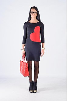 Šaty - HEART DRESS__SINGLE & FABULOUS - 3257152