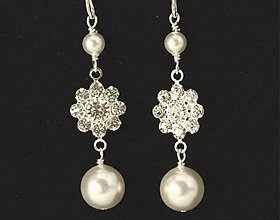 Náušnice - svadobné náušnice s perlami Swarovski - 325956 ff79caf30c