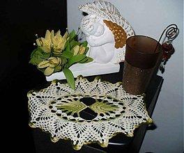 Úžitkový textil - Háčkované malé prestieranie -  Barborka - 3259799