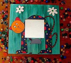 Zrkadlá - zrkadlo  - kocúrik hľadá myšku - 32655