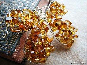 Sady šperkov - Medový motýľ.../sklo/ - 3267926