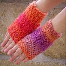 Rukavice - návleky na ruky - farebné - 3277249