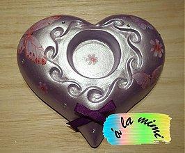 Svietidlá a sviečky - Fialový motýlí vánok - 3281457