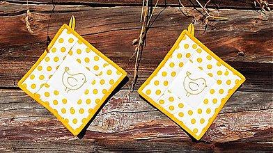 Úžitkový textil - Chňapka žltá - 3281742