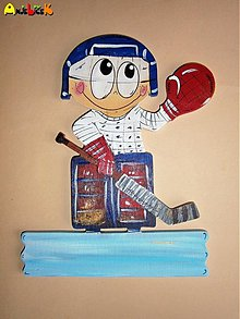 Tabuľky - Menovka - hokejista brankár - 3281983