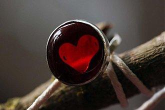 """Prstene - Strieborný prsteň """"Srdce na dlani"""" - 3285596"""