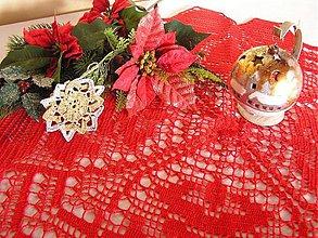 Úžitkový textil - Červený vianočný obrus - 3286951