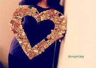 Dekorácie - Dám ti svoje srdce korkové... - 3288437