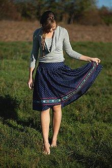 Sukne - Modrotlačová sukňa II. - 3291579