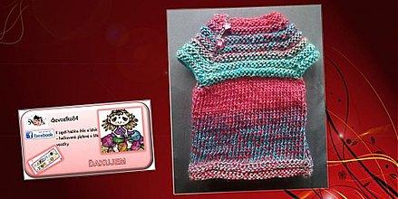 Detské oblečenie - Saty, tunika, vesticka :-) 3v1 - 3294219