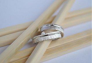 Prstene - Rukou prírody písané ... strieborné - 3296268