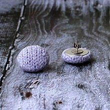 Náušnice - Náušnice zapichovačky v kašmírovom svetríku MNOHO farieb na výber - 3297499