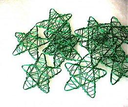 Materiál ručne robený - drôtená hviezda - 3300566