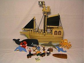 Hračky - Pirátska loď 2 -  skladačka - 3301038