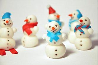 Drobnosti - Cukroví snehuliaci na muffiny (6 ks) - 3302652