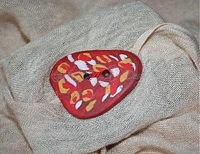 Nezaradené - okrasný gombík červený 5 cm - 3304503