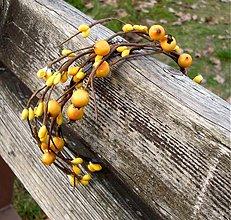 Ozdoby do vlasov - Žlté bobuľky - 3312164