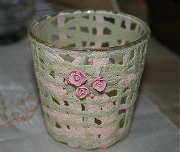 Svietidlá a sviečky - svietnik ružičky - ručná práca - 3312295