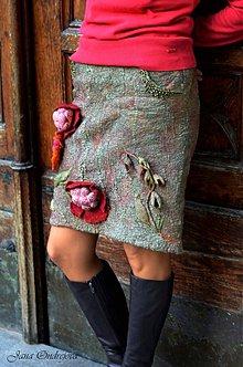 Sukne - Plstená sukňa Inspired by nature II.-tabaková - 3316853