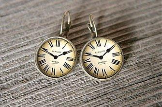 Náušnice - hodinky - 3318612