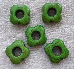 Minerály - Prír.kameň-kvet-1ks (zelená) - 3319429