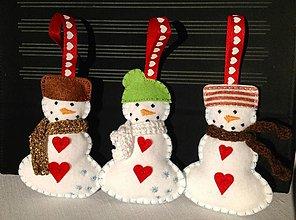 Dekorácie - Vianoční snehuliaci - 3320858