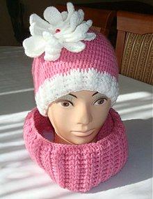 Detské čiapky - Ružová súprava - 3325537