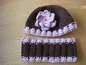 Detské čiapky - Zimná dievčenská súprava - 3325775