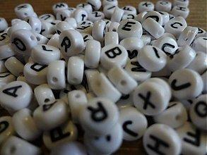 Korálky - Plastové korálky abeceda (balíček cca 500ks) - 3326498