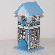 Nádoby - Domček na čaj - Modrý obchodík - 3333199