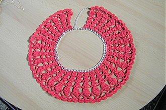 Náhrdelníky - Háčkovaný náhrdelník - 3336377