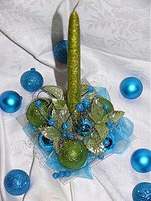 Svietidlá a sviečky - Trblietavé Vianoce 1 - svietnik - 3337550
