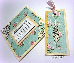Papiernictvo - Shabby Chic kalendárik - 3338290